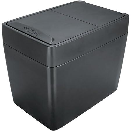 槌屋ヤック 車用 ゴミ箱 スイングダスト ブラック ZE-1