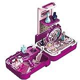 Ruby569y Juego de juguetes de pretender, 1 juego de juguetes para casa de muñecas de helados, educación temprana, divertido, interactivo, juego de tocador para decoración - rojo púrpura