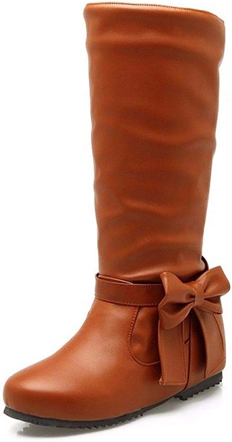 Autumn and Winter Boots Bow roundheaded Big Boot Code