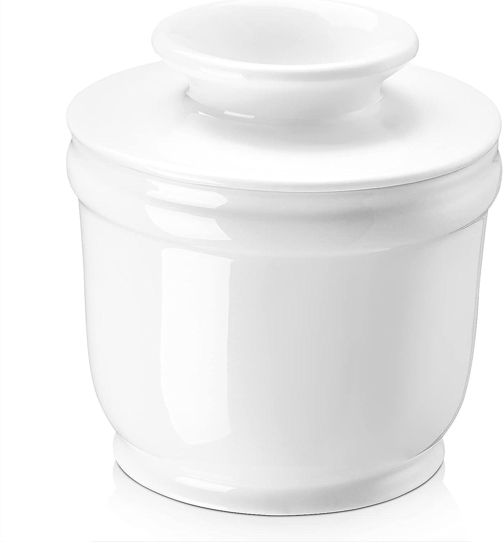 DOWAN Porcelain Butter Crock Keeper shop with Water Line Rapid rise Fre