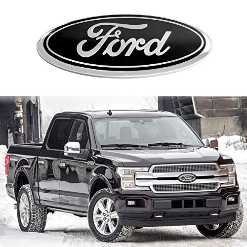For Ford Emblem,Black 9 INCH Grille Emblem Front Tailgate Badge Replacement Plate Emblems for F-150 2004 to 2014, F-250/F-350 2005 to 2007, Explorer 2011 to 2016, Edge 2011 to 2014, EXPEDITION,RANGER