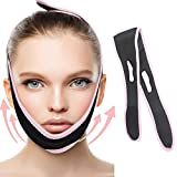 REUSABLE V Line Face Mask – Facial Slimming Strap Firming Face Lift Tape Double Chin Reducer Strap Face Neck and Chin Lift Anti-Aging & Anti-Wrinkle Band