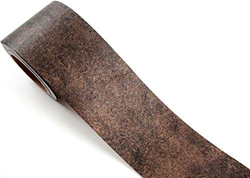 ROSEROSA Peel & Stick Metallic Color Backsplash Hair Line Border Sticker Self-Adhesive Wallpaper Bronze Metal (MG265B : 3.93 inch X 16.40 feet)