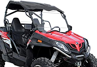 SuperATV Heavy Duty Scratch Resistant Full Windshield for CFMOTO ZForce 800 EX / 500/800 Trail / 1000 (2014+) - Hard Coated for Extreme Durability - Installs in 5 Minutes!