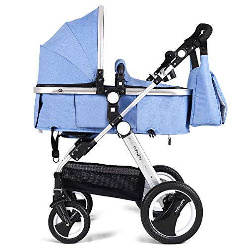 BABY JOY Baby Stroller, 2-in-1 Convertible Bassinet Reclining Stroller, Foldable...