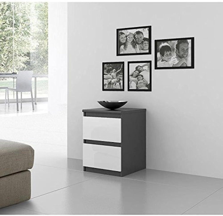 FINLANDEK Chevet NATTI contemporain grau et Weiß mat - L 42 cm