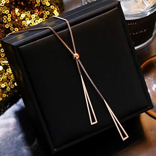 WANLIAN Collar de Borla Colgante en Forma de Y para Mujer, Collar de Borla en Forma de Y Desmontable de Acero Titanio