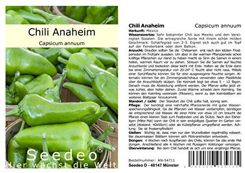 Seedeo® Chili Anaheim (Capsicum annuum) 10 Samen
