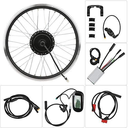"ZLM Elektro-Bike Conversion Kit 20 ""KT-LCD6 LCD-Umwandlung Wasserdichtes Elektrosatz Bike Conversion Elektrosatz Elektro-Fahrrad Motor Umrüstsatz,Cassette flywheel"