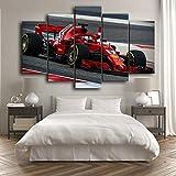SGDJ Cuadro en Lienzo F1 Ferrari Sebastian Vettel Racing 150