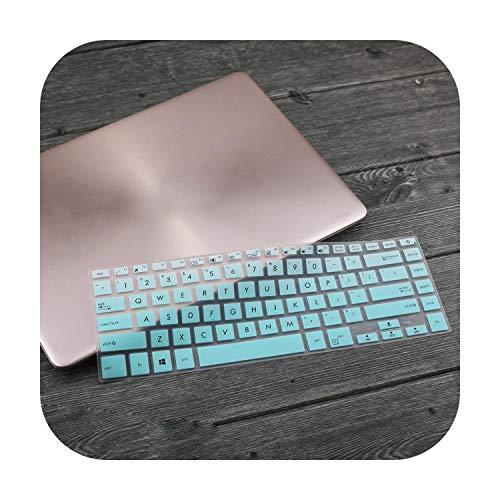 Funda protectora de teclado para portátil de 15,6' para ASUS VivoBook 15 K510UQ S15 F510UA A510UA S510UA F510UN S510UN A510UN-fadewhiteblue-
