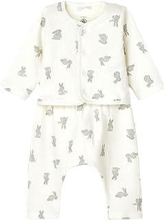 Petit Bateau Ensemble 2 pièces comprenant un pantalon et un cardigan avec imprimé de lapin.