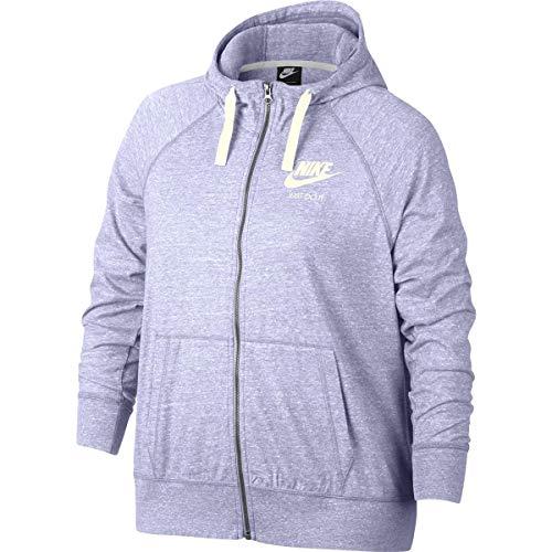 NIKE Women's Plus Size Sportswear Gym Vintage Hoodie (Lavender Mist, 2X)