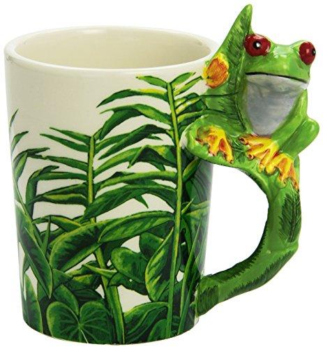 Tasse Frosch #50159 Henkel mit Laub