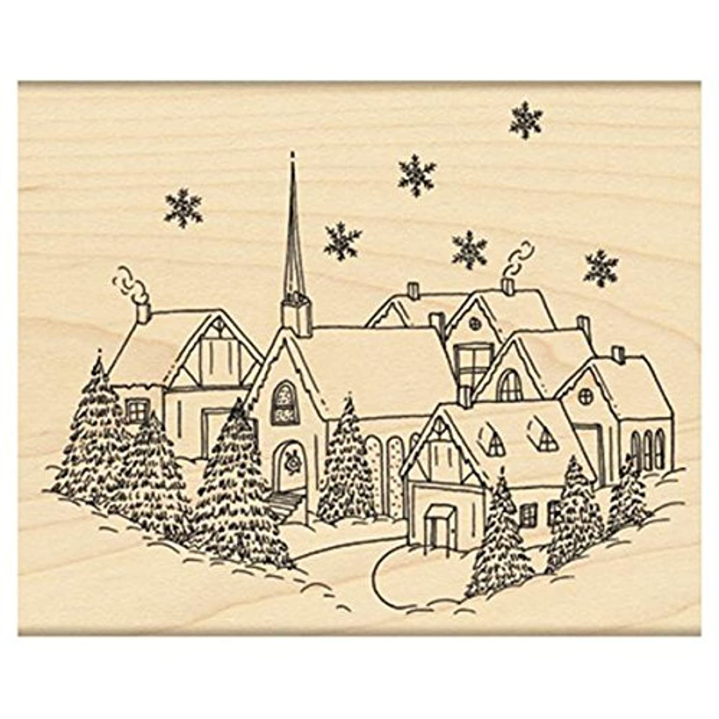Penny Black Winterscape Wood-Mounted Stamps