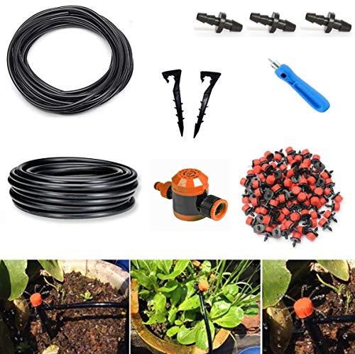 Kit di Micro Irrigazione A Goccia per Orto Giardino Vasi Aiuole Serre| Irrigazione Automatica|50...
