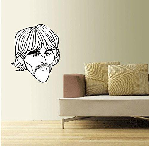 The Beatles George Harrison Music Home Decor - Adesivo da parete in vinile, 63 x 53 cm