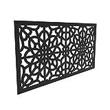 YardSmart 73004786 Decorative Screen Panel 2X4-Fretwork, Black