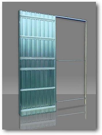 Controtelaio Per Porte Scorrevoli Anta Unica Sp100 Per Cartongesso Doortech By Scrigno Misure 80x210 Cm Amazon It Fai Da Te