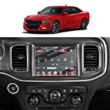 Screen Protector Foils for 2011-2020 Dodge Charger Uconnect Navigation Display Anti-Explosion Tempered Glass 9H Hardness Anti Glare & Scratch HD Clear LCD GPS Touch Screen Protective Film (8.4In)