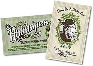 ASSWIPES to Go Single Packets! Everyday Flushable Cleaning Hygiene Wipes with Aloe and Vitamin E! (15 Packets)