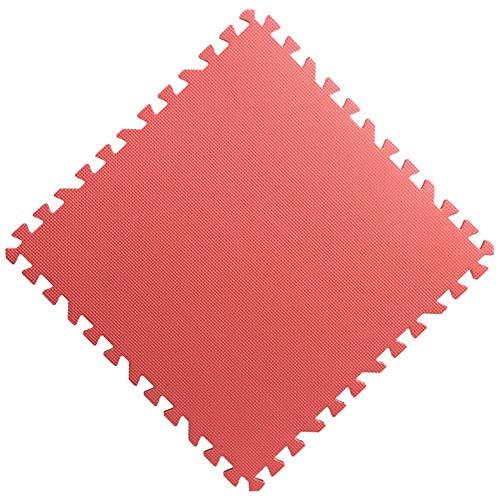 WUZMING-Tapis Puzzle En Mousse Tuiles Imbriquées Plancher De Mousse Protection Contre Le Froid Intérieur Bébé Rampant Tapis De Jeu for Enfants (Color : Red, Size : 30x30x1.0-56pcs)
