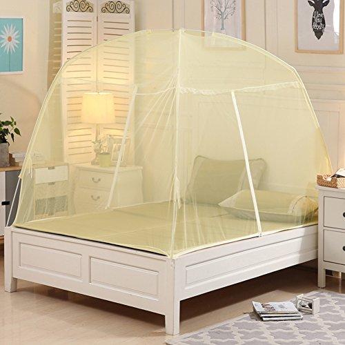 Ronde vlieg scherm, Verhoog Yurt Net,Dubbele muggen Netto Student Enkele slaapzaal Bracket Rits Netten houdt weg Insecten & Vliegen
