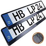 L & P Car Design L&P A163 2 STK Kennzeichenhalter Auto Nummernschildhalter Carbon Kennzeichenhalterung