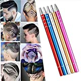 Hair Tattoo Razor Pen, Stainless Steel Hairstyle Design Trimmer, with Tweezers and 10 Pieces Blades, for Eyebrow Mustache Hair Styling Art