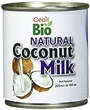 Cecil Bio - Leche de coco natural, 18 % de grasa, 200 ml (pack de 6)