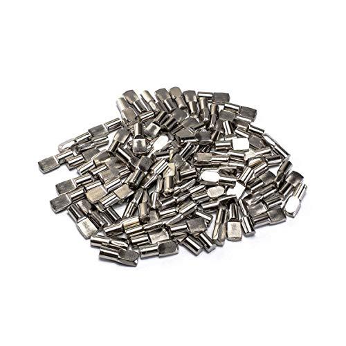 "POWERTEC QP1106 1/4-Inch Shelf Pegs, 1/4"", Nickel,100"