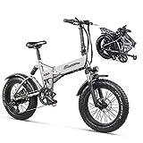WZW MX21 Pieghevole Bicicletta Elettrica 500W 48v 4.0 Grasso Pneumatico Uomo da Donna Ebike Montagna Bicicletta Elettrico Bicicletta Spiaggia Neve incrociatore Bicicletta