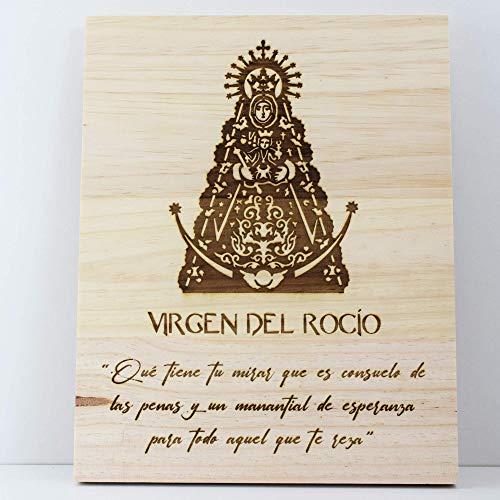 Cuadro Virgen del Rocío madera pino personalizado