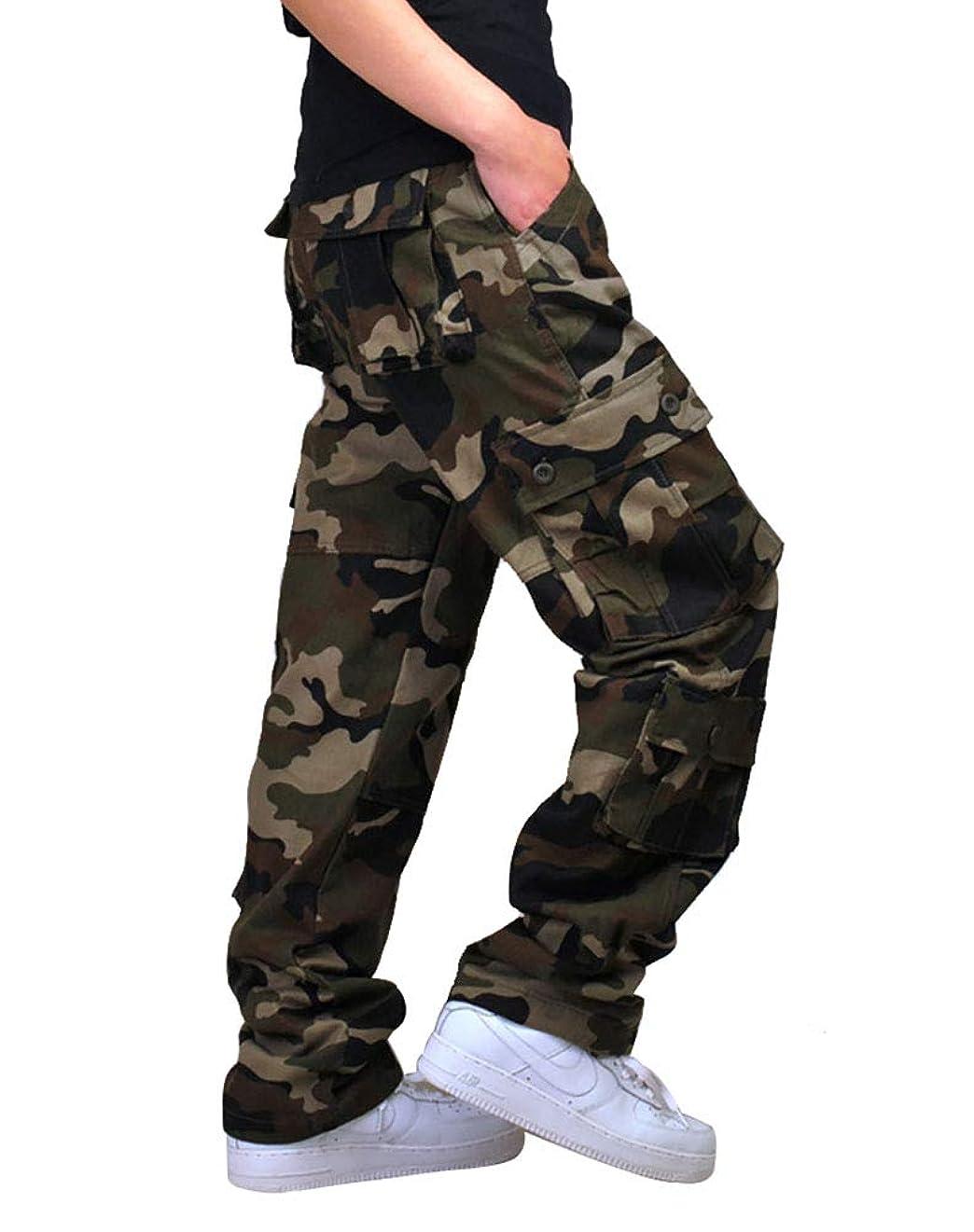 (フィッシュスカイ)FISHSKY メンズ 作業ズボン 作業服 カーゴパンツ ワークパンツ 多機能 ロングパンツ ストレート 大きいサイズ 綿100%