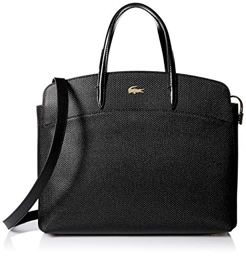 Lacoste Women CHANTACO Pockets Shopping Bag, Black