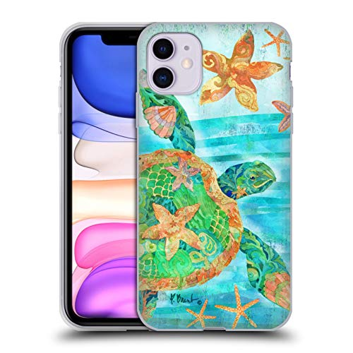 Officiële Paul Brent Nassau Schildpad Kust Soft Gel Case Compatibel voor Apple iPhone 11