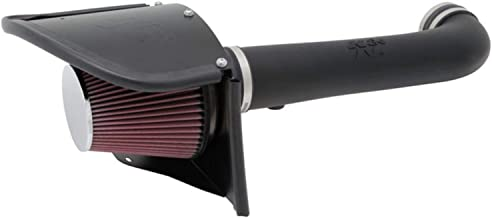 K&N Cold Air Intake Kit with Washable Air Filter: 2012-2018 Jeep (Wrangler, Wrangler JK) 3.6L V6, Black HDPE Tube with Red Oiled Filter, 63-1566