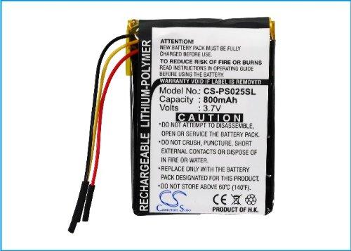 CS-PS025SL Baterie 800mAh compatibel met [PHILIPS] GoGear SA6015, GoGear SA6025, GoGear SA6025/37, GoGear SA6025/97 vervangt