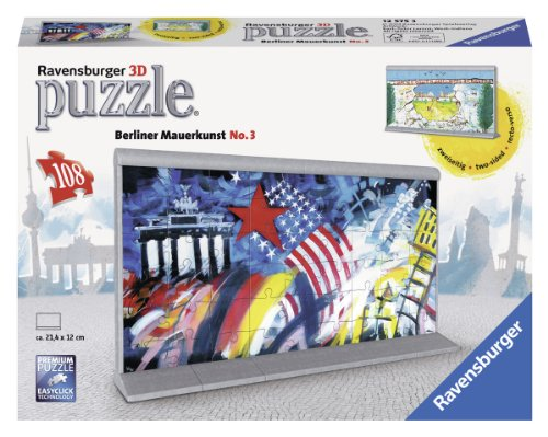 Ravensburger 12575 - Berliner Mauerkunst No.3 - 3D Puzzle Bauwerke, 108 Teile