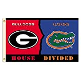 NCAA Georgia - Florida 3-by-5 Foot Flag with Grommets - Rivalry House Divided