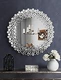 Espejo de pared con espejo de mosaico para decoración de recámara, sala de estar, chimenea, mantel