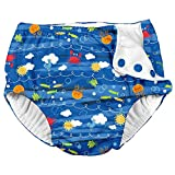 i Play Boys Reusable Absorbent Toddler Swim Diapers - Swimming Suit Bottom   No Other Diaper Necessary Royal Blue Sea Friends 4T