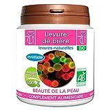 Levure de bière revivifiable BIO | 200 gélules | Beauté De La Peau - Confort Digestif | 320 mg dosage 100% naturel sans additif...