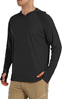 Men's UPF 50+ Sun Shirt UV Protection SPF Quick Dry Long Sleeve Hoodie T-Shirt