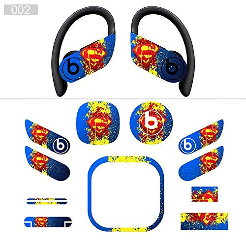 Pegatinas de Auriculares Personalizadas, Adornos de Auriculares de Moda, protección de su Dispositivo contra el Polvo-para Apple Beats Powerbeats Pro,Blue