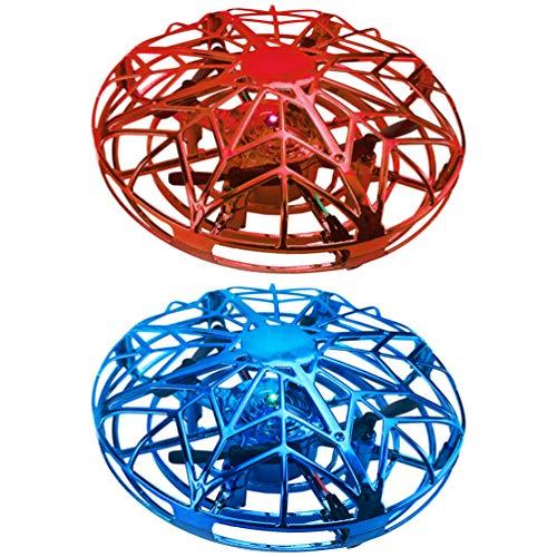 Garneck 2Pcs Drones Ovni para Niños Mini Drone Operado a Mano Niño Niños Drone Levitación Bola Voladora Drone Toy 360 Helicóptero...