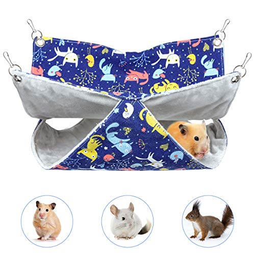 Hängematte für Kleintiere, Haustierkäfig Hängematten, Weiche und Warme Haustiere Käfig Hängematte für Frettchen Ratten Maus Meerschweinchen Rennmaus Hamster Chinchillas Eichhörnchen Kätzchen