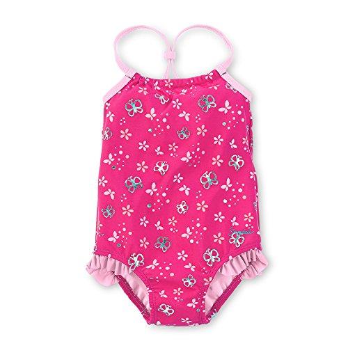 Sterntaler Kinder Mädchen Badeanzug mit Windeleinsatz, UV-Schutz 50+, Alter: 6-12 Monate, Größe: 74/80, Pink