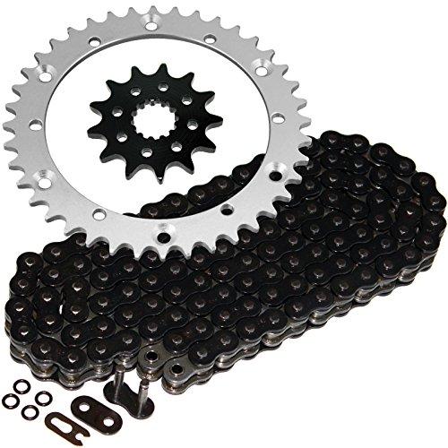Caltric Black O-Ring Drive Chain & Sprockets Kit Compatible With Yamaha Raptor 660 Yfm660R Yfm-660R 2001-2005
