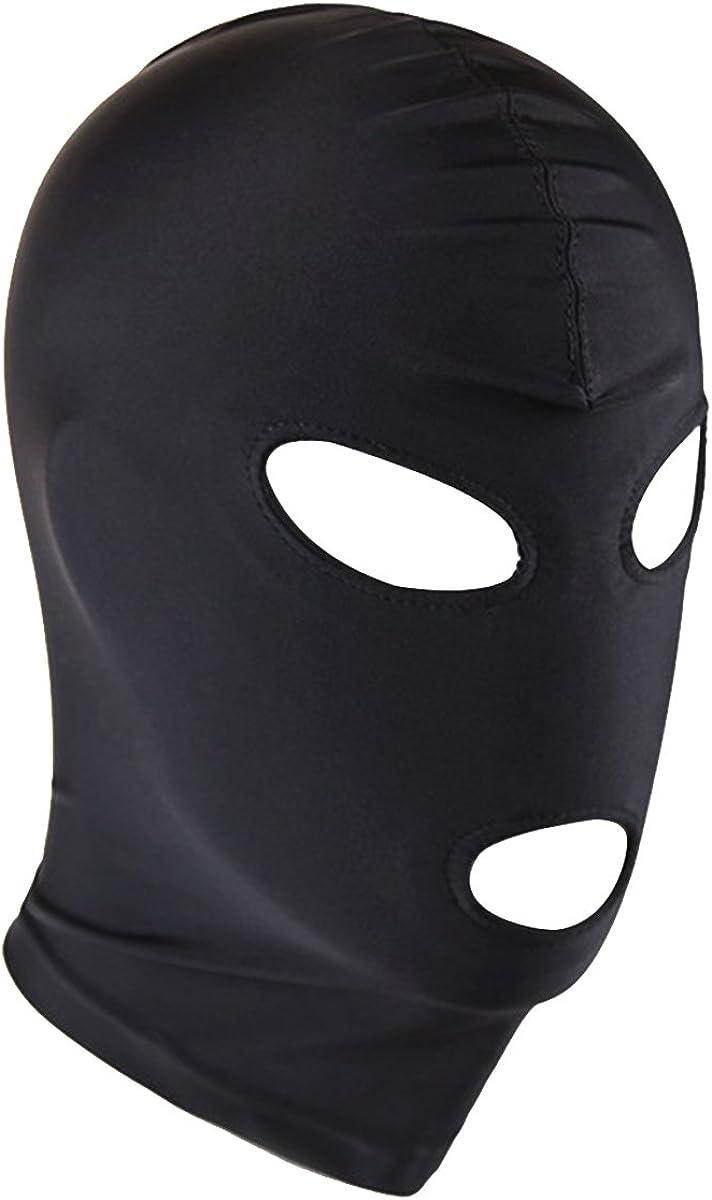 Amazon Com Yizyif Black Eyes Mouth Holes Blindfold Hoods Head Mask Zentai Costumes For Female Male Eyes Mouth Holes Black Clothing